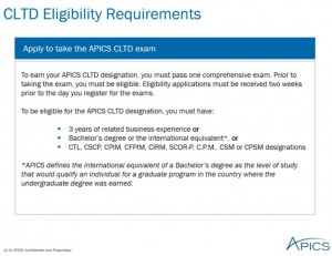 CLTD eligibility requirements